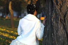 Free Bride Near The Tree Stock Image - 17248121
