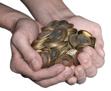 Free Full Handful Of Coins Stock Photography - 17248752