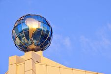 Free Globe On The Roof Over Sky Royalty Free Stock Image - 17248956