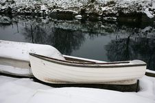 Free Rowboats In Snow Royalty Free Stock Photography - 17249147