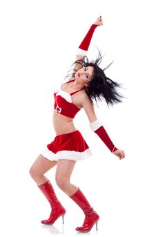 Free Girl Dressed As Santa Royalty Free Stock Photos - 17249638