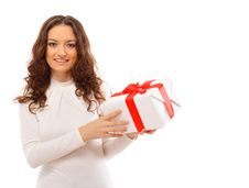 Picture Of Cheerful Santa Stock Images