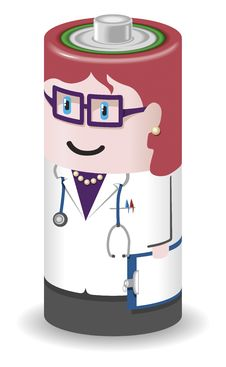 Free Battery People Doctor Woman Royalty Free Stock Photo - 17249845