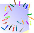 Free Many Colored Pencils And Paper Note Stock Photo - 17252290