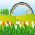 Free Rainbow Over The Meadows Stock Photo - 17257820