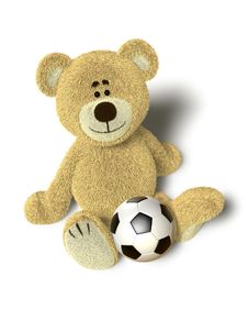 Free Nhi Bear On The Floor With A Ball Stock Photos - 17250833