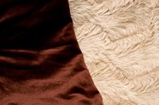 Brown And Light Synthetic Fabric Stock Photo