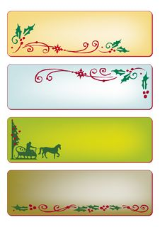 Free Christmas Banners Stock Photography - 17251412