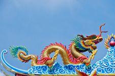 Free Golden Dragon Statue Royalty Free Stock Photos - 17251578