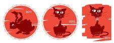 Free Cat And Rabbit.New Year Symbol Stock Photo - 17252400