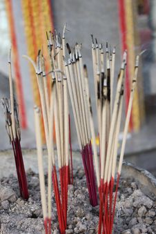 Free Incense In Vase Royalty Free Stock Images - 17252879