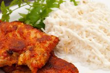 Free Pork Chops With Spices Stock Photography - 17253012