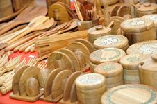 Wooden Ware Royalty Free Stock Photo