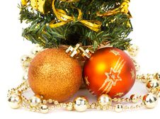 Free Christmas Decorations And Fir Tree Royalty Free Stock Image - 17253016