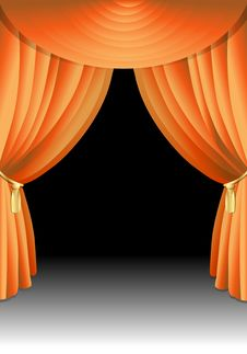 Free Illustration Of A Stage Curtain Royalty Free Stock Image - 17253056