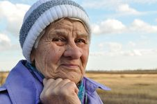 Free Reflecting, An Elderly Woman Looks Away, Royalty Free Stock Photo - 17253145
