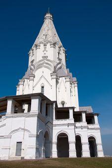 White Stone Church In Moscow Royalty Free Stock Photos