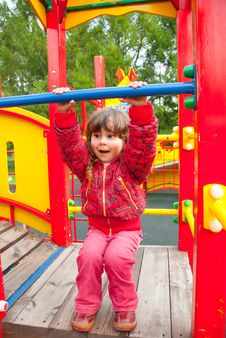 Free Little Girl Plays In Playground Royalty Free Stock Photography - 17254007