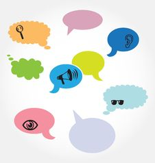 Free Speech Balloons Royalty Free Stock Image - 17254056
