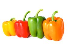 Free Four  Peppers Royalty Free Stock Photography - 17254087