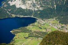 Free Bird-eye View At Alpine Village Royalty Free Stock Photography - 17254487