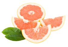 Free Peaces Of Red Grapefruit Royalty Free Stock Photo - 17254525