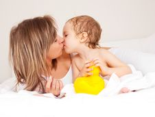 Mother And Her Baby Stock Image