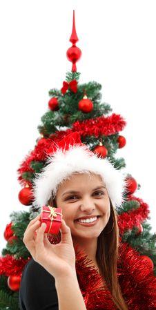Free Woman At Christmas Stock Photography - 17255272