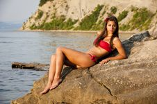 Free Girl On The Beach Stock Photos - 17255783