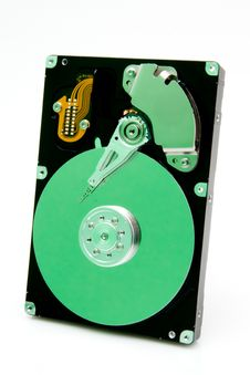 Free Harddrive With Green Reflection Stock Photos - 17255843
