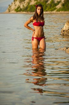 Free Girl On The Beach Royalty Free Stock Photo - 17255845