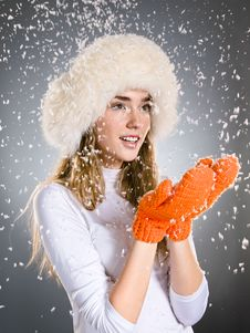 Free Catching Snowflakes Stock Photos - 17255973