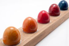Row Of Colored Eggs Stock Image