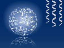 Free Shiny Snowflakes Ball Stock Photos - 17256473