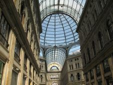 Galleria Umberto In Napoly, Italia Stock Images