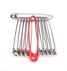 Free Safety Pins With One Red Stock Images - 17256894