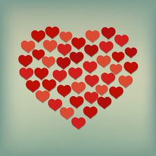 Heart Background. Vector Royalty Free Stock Photography