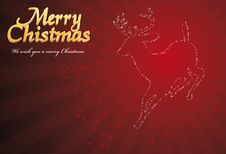 Reindeer Christmas Card Royalty Free Stock Photos
