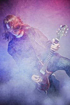 Free Rock-star Playing A Concert Royalty Free Stock Photos - 17257558