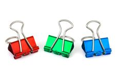 Free Multicolored Paper Clips Stock Images - 17257594
