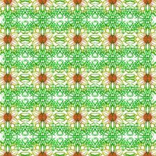 Free Flower Illustration.pattern Happy White Background Royalty Free Stock Photography - 17258287