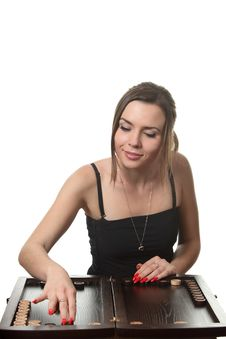 Free Woman Play Backgammon Stock Photos - 17258733