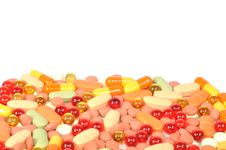 Free Colorful Pills Royalty Free Stock Photography - 17258767