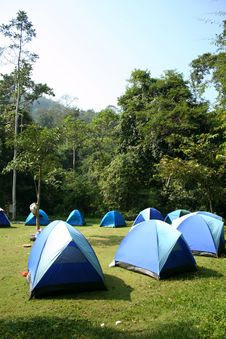 Free Camping Ground. Stock Image - 17258921