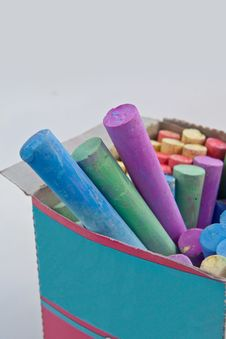 Colored Chalks Royalty Free Stock Photography