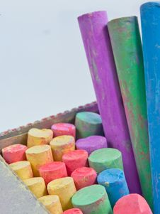 Colored Chalks Royalty Free Stock Images