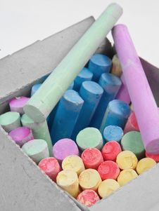 Colored Chalks Stock Image
