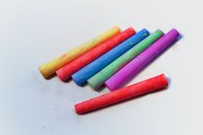 Free Colored Chalk Stock Photography - 17259402