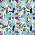 Free Seamless American Pattern Stock Photo - 17261470