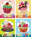Free Cake Card Royalty Free Stock Photos - 17261628